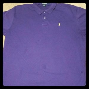 Polo Ralph Lauren XXL Mesh Men's Purple Polo Shirt